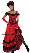 Saloon Bar Girl Can Can Moulin Rouge Fancy Dress Costume - M 8 10 12 - SECOND