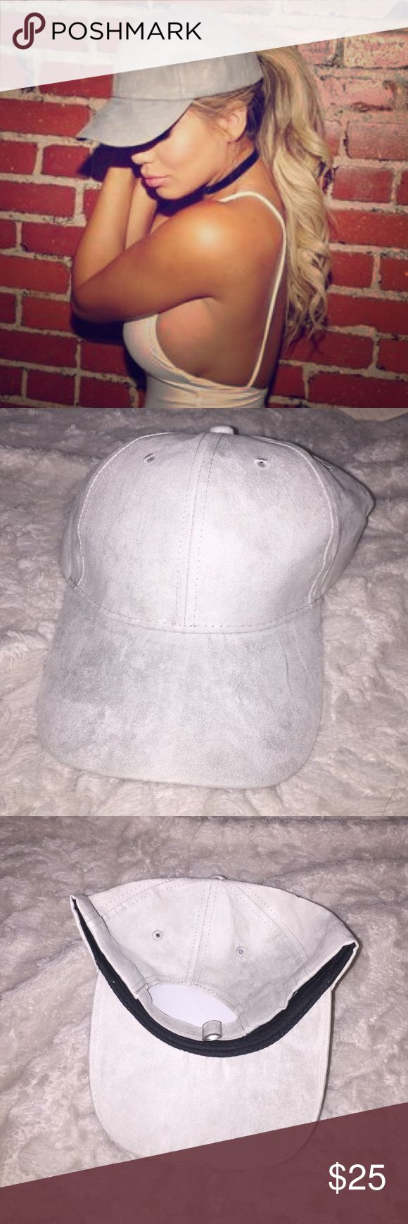 ✨NWOT✨ Faux Suede Light Grey Cap Faux suede grey colored cap. Classic baseball cap with a soft faux suede texture. Adjustable buckle in back. One size fits all. Available in Light grey color. Brand listed for exposure. NWOT 👈🏽  100% Cotton, Made in China Zara Accessories Hats