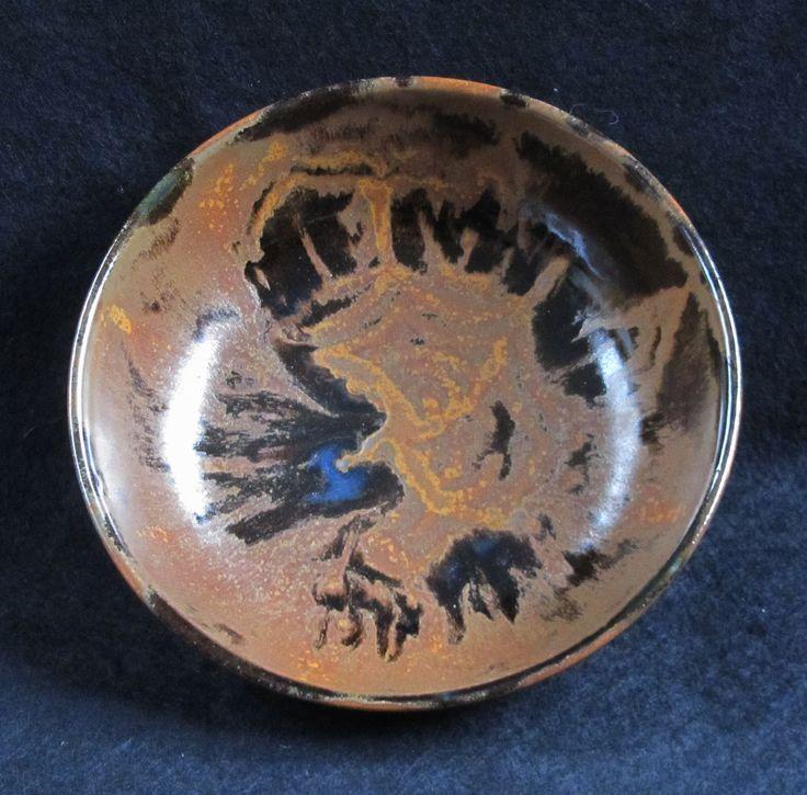 Starburst oilspot bowl