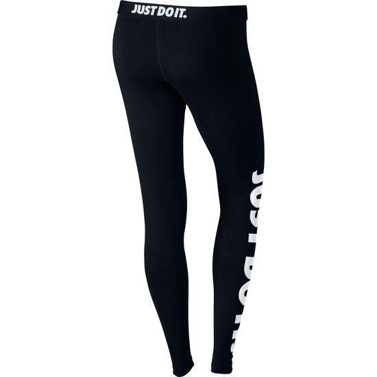 Nike Leg-A-See Legging dames - Sportbroek  - Dames - Zwart/Wit - Maat L