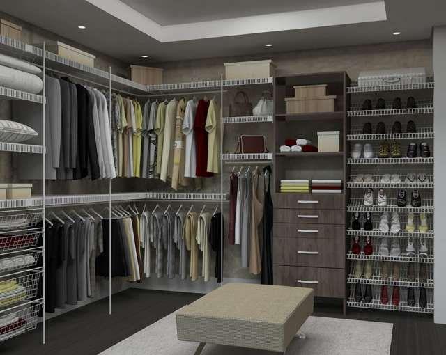 Fotos de closet de rejilla melamina para ordenar tu ropa for Closet modernos para hombres