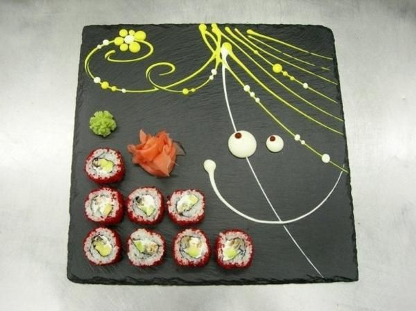 Hand Painted Sushi Plates for Creative Asian Party Table Decoration