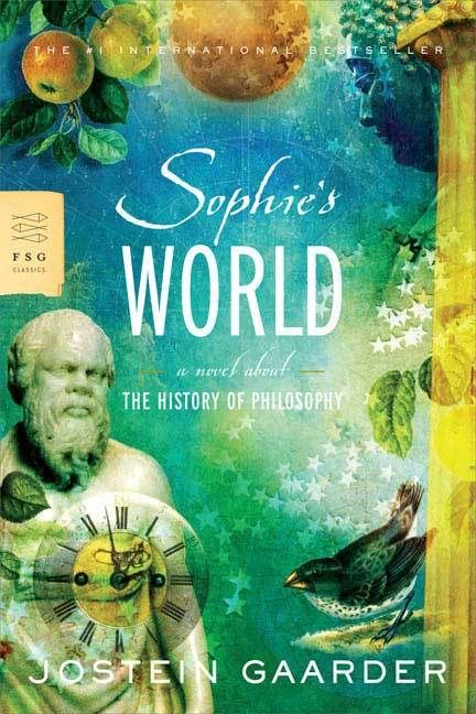 Sophie's World, by Jostein Garrder. A fiction piece on the history of philosophy. A story centred around Sophie, and a series of letters she receives from her father teaching her about the great philosophers. A fun, interesting, and adventurous story that culminates in a wondrous ending.