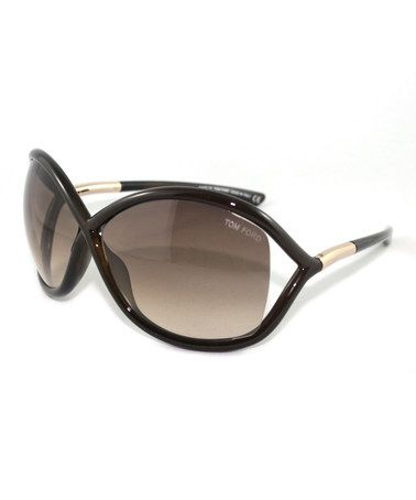 Look what I found on #zulily! Dark Brown Whitney Sunglasses by Tom Ford #zulilyfinds
