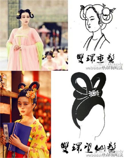 """- """"Wu Zetian whips her hair around : a glimpse at Tang dynasty hairstyles"""""""