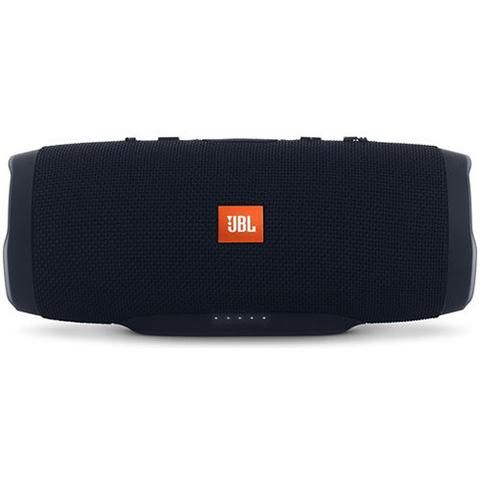 JBL Charge 3 Portable Bluetooth Speaker Black - Front View