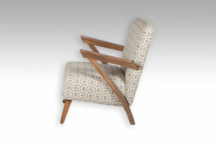 The ZARA occasional chair is by a South Australian designerAll Australian madeshown here with Tasmanian Oak stained arms. Your choice of any fabric or leather