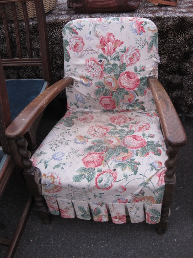 Pink floral fabric chair in the UK