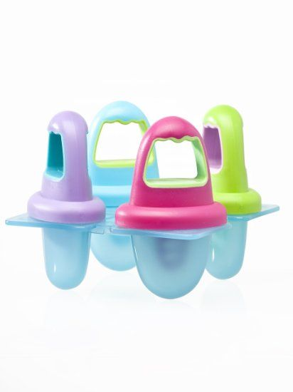 "Baby Popsicle Molds to make breast milk ""popsicles"" for teething babies."