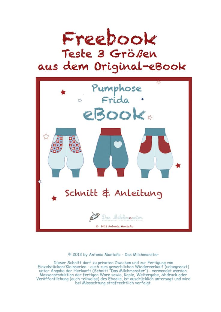 "Freebook Pumphose Frida Schnittergänzung Kapuze ""Martha"" Freebook Audrey Haarband"