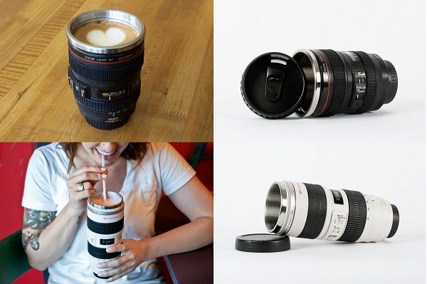 Canon camera lens shaped mugs if i can find them in nikon Nikon camera lens coffee mug