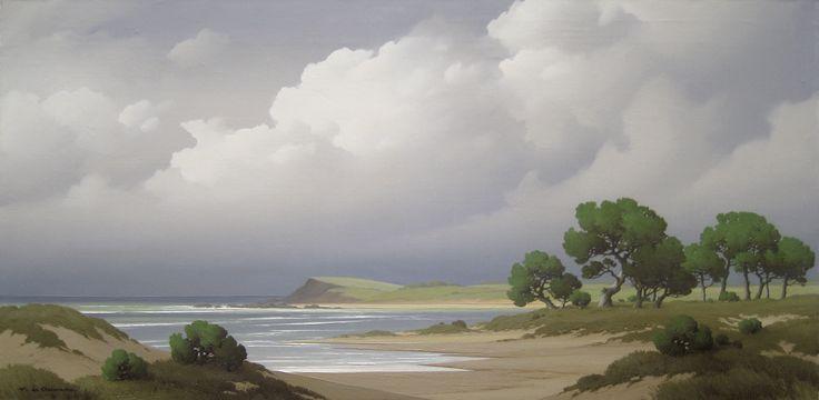 'Pins sur l'estuaire' by Pierre de Clausade (1910 - 1976), oil on canvas: 51 x 101 cm, signed