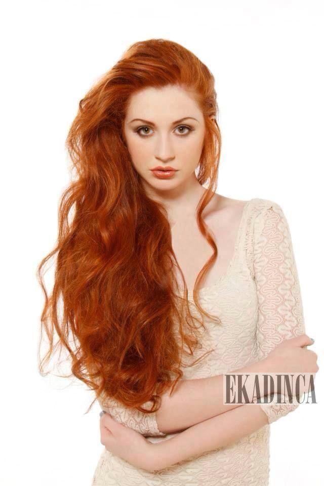 bakır karamel uzun saç saç modelleri 2014