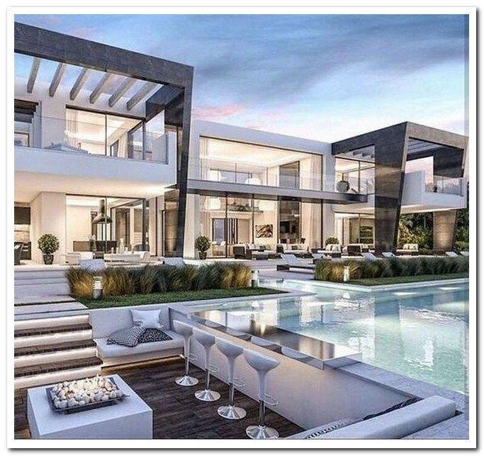 42 Stunning Modern Dream House Exterior Design Ideas Dreamhouseexterior Moderndreamhou Luxury Homes Exterior Luxury Houses Entrance Luxury Homes Dream Houses