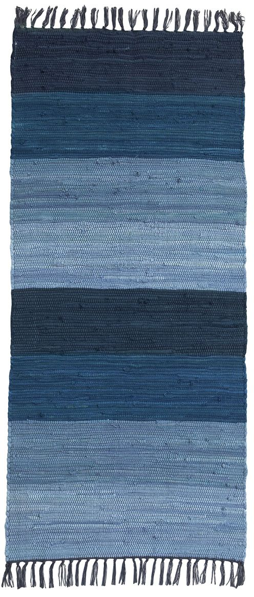 Shades of blue. Striped rug / Ellos