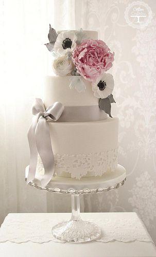 Peony wedding cake   Flickr - Photo Sharing!