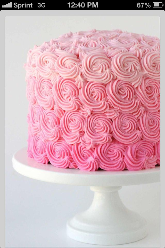 Flower pink cute girly cake