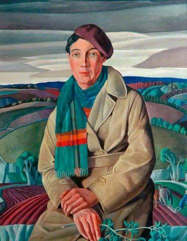 Portrait of a Lady - Harry Epworth Allen,  paintings