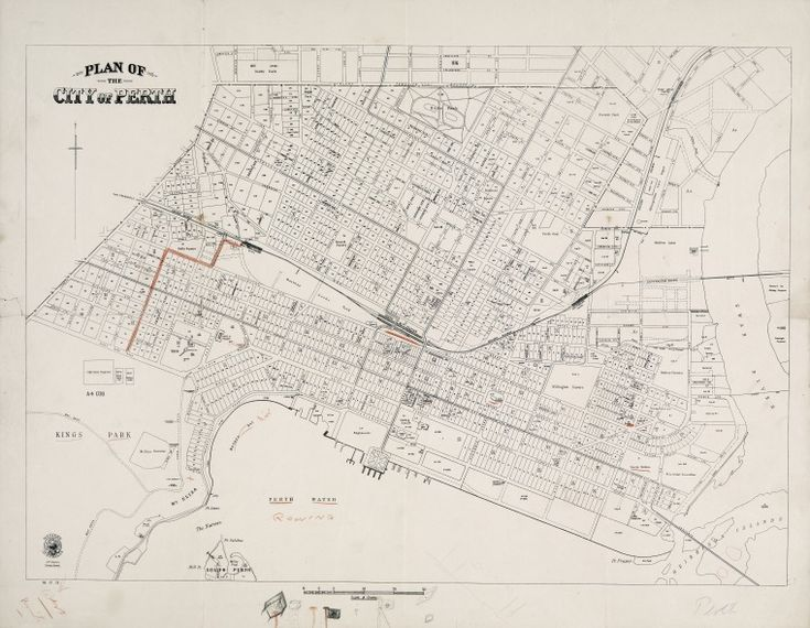 PERTH. 1925 Cadastral map. Part of collection: Townsite maps, Western Australia. https://encore.slwa.wa.gov.au/iii/encore/record/C__Rb1959717