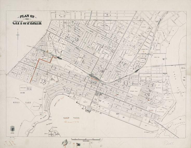 PERTH. 1925 Cadastral map. Part of collection: Townsite maps, Western Australia. https://encore.slwa.wa.gov.au/iii/encore/record/C__Rb1959717