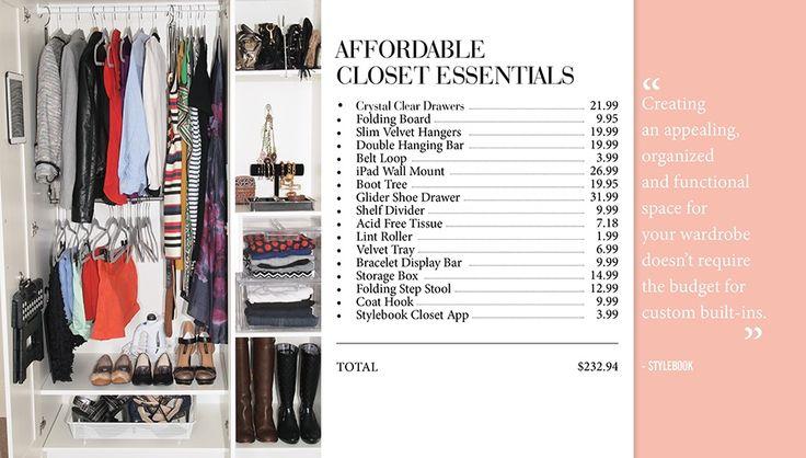 Stylebook Closet App: Closet Makeover: 9 Tips To Make Over A Small Closet On A Budget