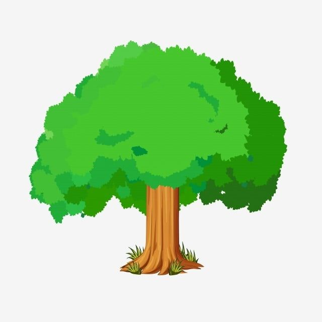 Hand Drawn Cartoon Tree Green Tree Clipart Png Tree Germination Png And Vector With Transparent Background For Free Download In 2021 Cartoon Trees Watercolor Trees How To Draw Hands