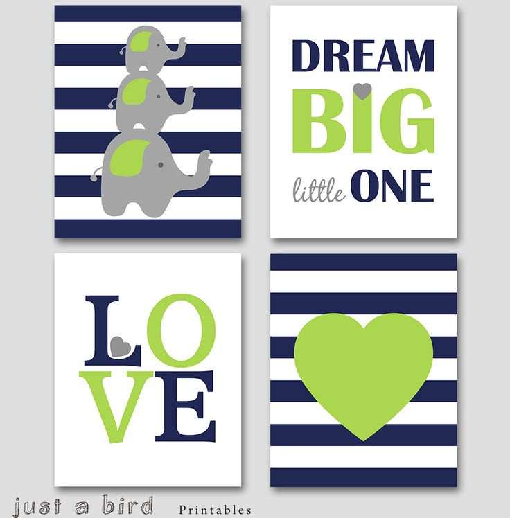 Elephant wall art PRINTABLE, navy blue lime nursery decor, baby boy nursery art, navy lime green decoration, nursery elephant art set by Justabirdprintables on Etsy https://www.etsy.com/listing/232823233/elephant-wall-art-printable-navy-blue
