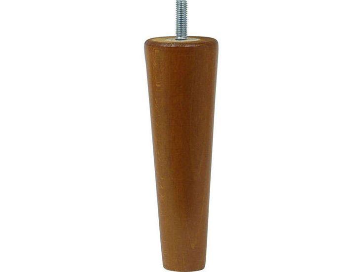 Jeu de 2 pieds H15 cm Coloris décor hêtre massif teinté merisier - Vente de Pied de lit - Conforama