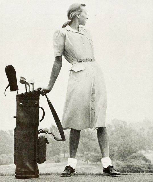 Lovely vintage golf look from Graff, 1947. Most golf dresses were made from easy care cotton.