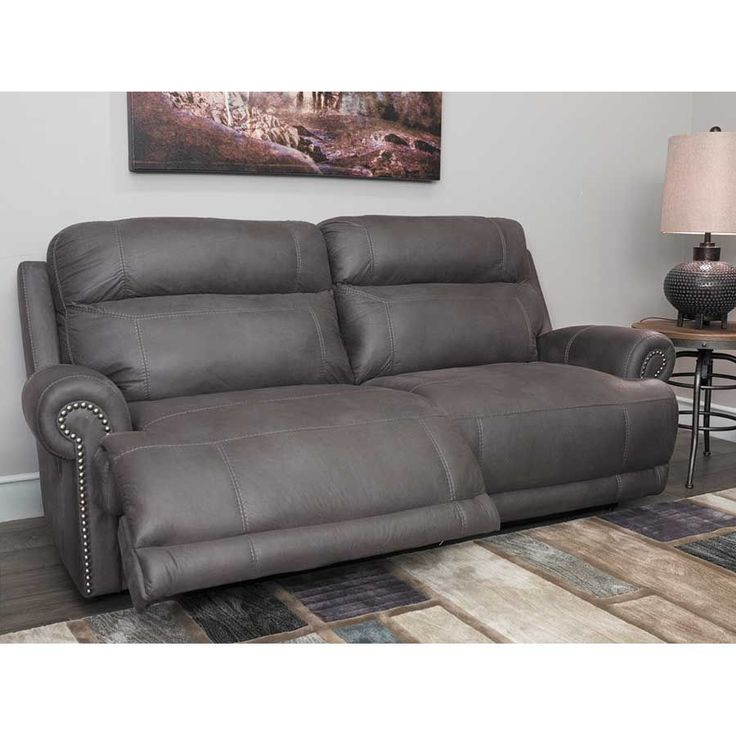 Gray Recliner Sofa 999 99 Browning Bluff Light