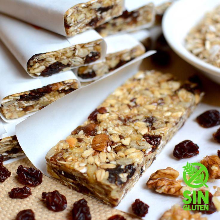 Barritas de cereales y frutos secos caseras con bajo contenido de azúcar, son muy fáciles de preparar y riquísimas. Una excelente opciónpara incorporar m