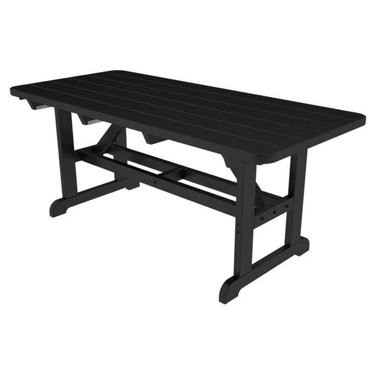 POLYWOOD® Park Harvester Recycled Plastic Picnic Table - 72L x 36W in. - Picnic Tables at Hayneedle