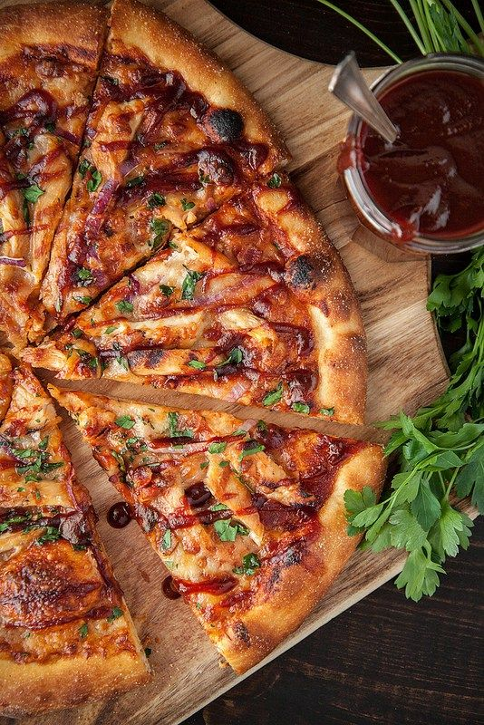 Barbecue Chicken Pizza with Homemade Sauce