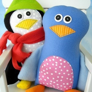 Download Pete Penguin & Bella Bird Sewing Pattern | Dolls & Clothing | YouCanMakeThis.com