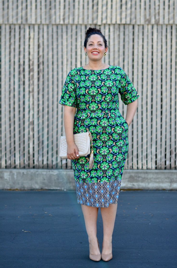GirlwithCurves.com kitenge / kanga dress