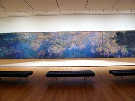 Monet's Reflections of Clouds on the Water-Lily Pond, c. 1920 Museum of Modern Art. NYC. I want to go there.