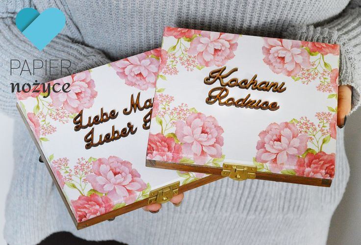 Zaproszenie dla rodziców i prośba o błogosławieństwo w dwóch wersjach językowych:) Motyw kwiatowy. Wspaniała pamiątka :)