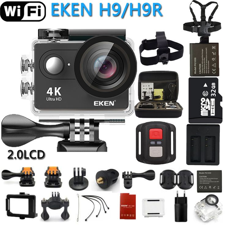 Hot Price Original EKEN Action Camera eken H9R / H9 Ultra HD 4K WiFi Remote Control Sports Video Camcorder DVR DV go Waterproof pro Camera ......Click Link To Cehck Price >>>>