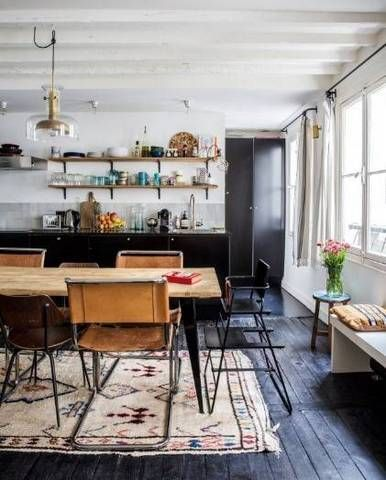 boho interior design eclectic dining room