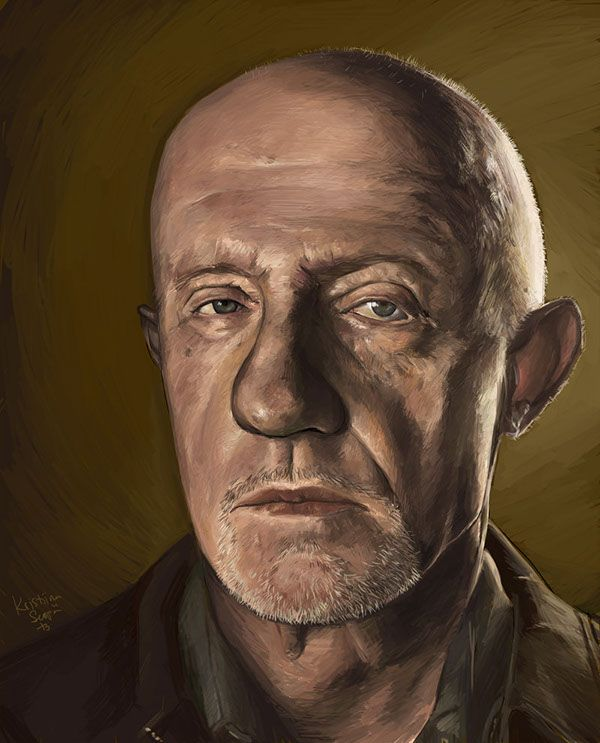 Mike Ehrmantraut / painted in 2013 Breaking Bad © Vince Gilligan / AMC Actor Jonathan Banks