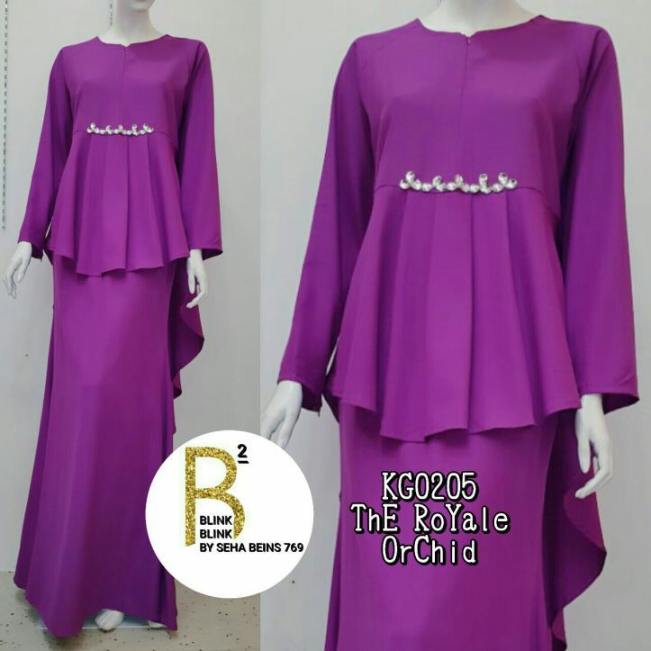 Cantik and meletopsss  Suitable to be part of your RAYA Collections   .  .  KG0205 The ROYALE PEPLUM  .  Made from High Quality Crepe  Hidden Zipper at front (Nursing Friendly)  Hidden Zipper at sleeve (wudhuk friendly)  Round Neck  Accessory Chunky Beads  .  .  Free size S till L  Shoulder 14-16in  Bust 36-38in  Sleeve 22in  Armhole 18in  Length(F) 24in  Length(B) 52in  .  Waist 26-34in (elastic band)  Hips 38in  Skirt Length 41in  Mermaid type  .  Harga : RM115 SM /RM120 SS .   Disclaimer…