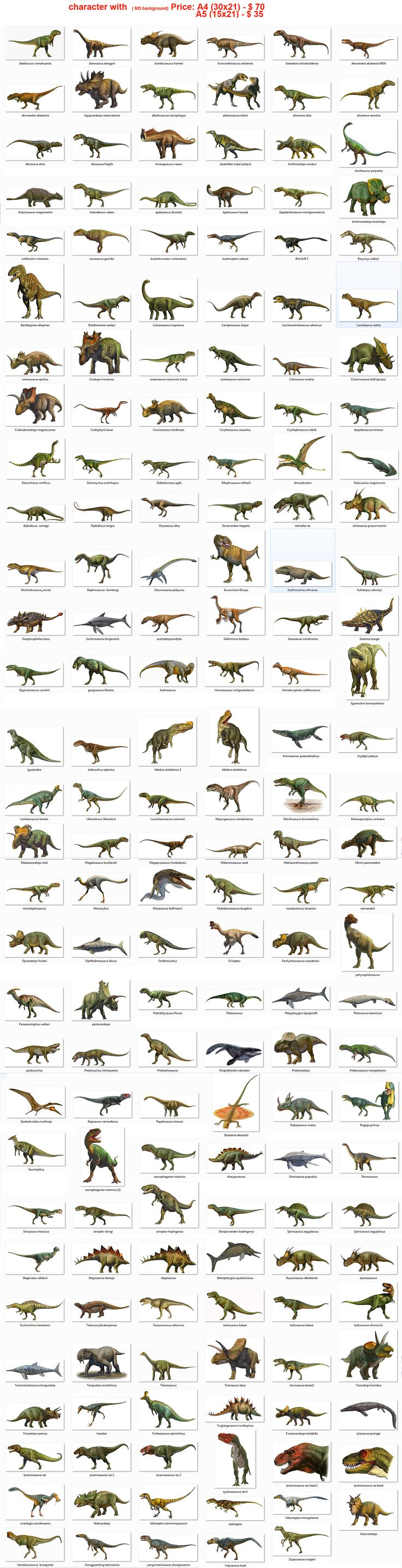 Dinosaurs!....pretty much all the dinosaurs ever discovered....give or take a couple of bones.