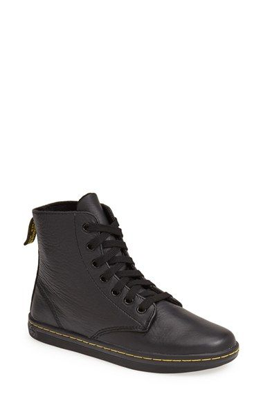 Dr. Martens 'Leyton' Boot at Nordstrom.com. Soft crinkled leather enriches a street-chic boot set on a comfy, air-cushioned sole.