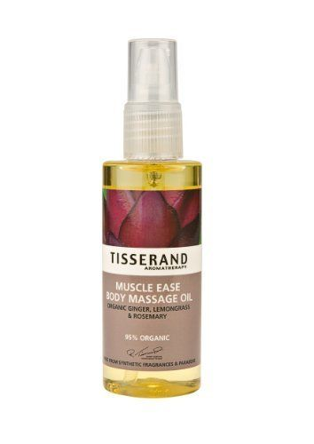 Tisserand Aromatherapy Body Massage Oil Muscle Ease 3.3 Oz by Tisserand. Save 3 Off!. $17.49. Vegetarian. No Animal Testing. Certified Organic. Muscle Ease Body Massage Oil by Tisserand 3.3 oz Oil MUSCLE EASE BODY MASSAGE OIL (100ml) 95 organic A soothing body oil to revive muscles and joints after workouts sports or general over-exertion Can also be used prior to activity or simply to melt away everyday tension fatigue De-luxe skin conditioning rich in vitamins antioxidants and omega...