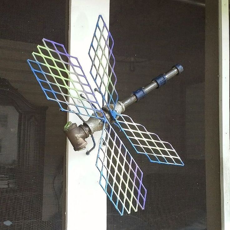 Steampunk Dragonfly Industrial Art by Randy and Me