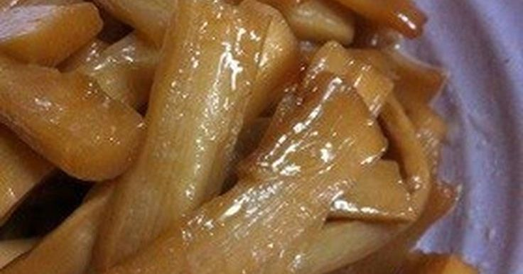 Great recipe for Seasoned Bamboo Shoots. These are crunchy seasoned bamboo shoots that are often found in ramen... My friend who is the daughter of a Chinese restaurant owner told me how easy this was and then taught me how to make it. Make sure to boil the shoots to get rid of the chemical smell. Let them cool while soaking in the water. Make sure to stir-fry them in sesame oil. Once the flavoring ingredients have been absorbed, cook for just a little bit more. The flavor really penetrat...