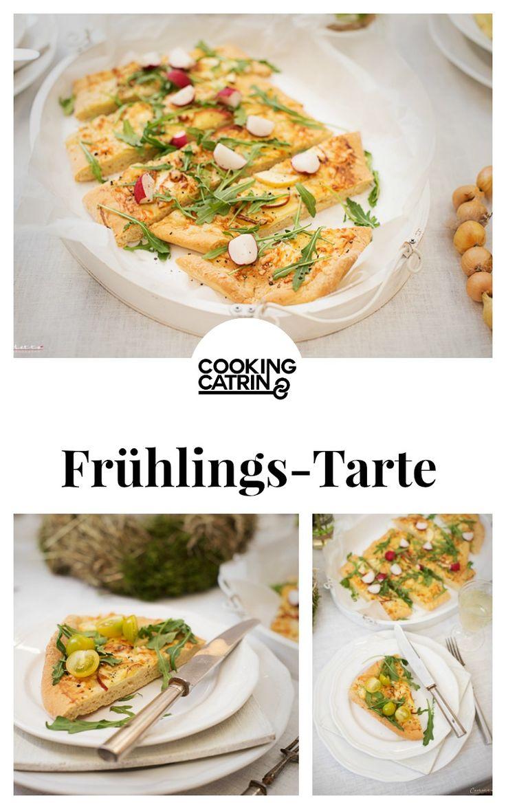 frühlings tarte, apfel käse tarte, tarte, tarte rezept, spring tarte, tarte recipe, apple cheese tarte, apple tarte, apfel tarte, cheese tarte, käse tarte...http://www.cookingcatrin.at/fruehlings-apfel-kaese-tarte/