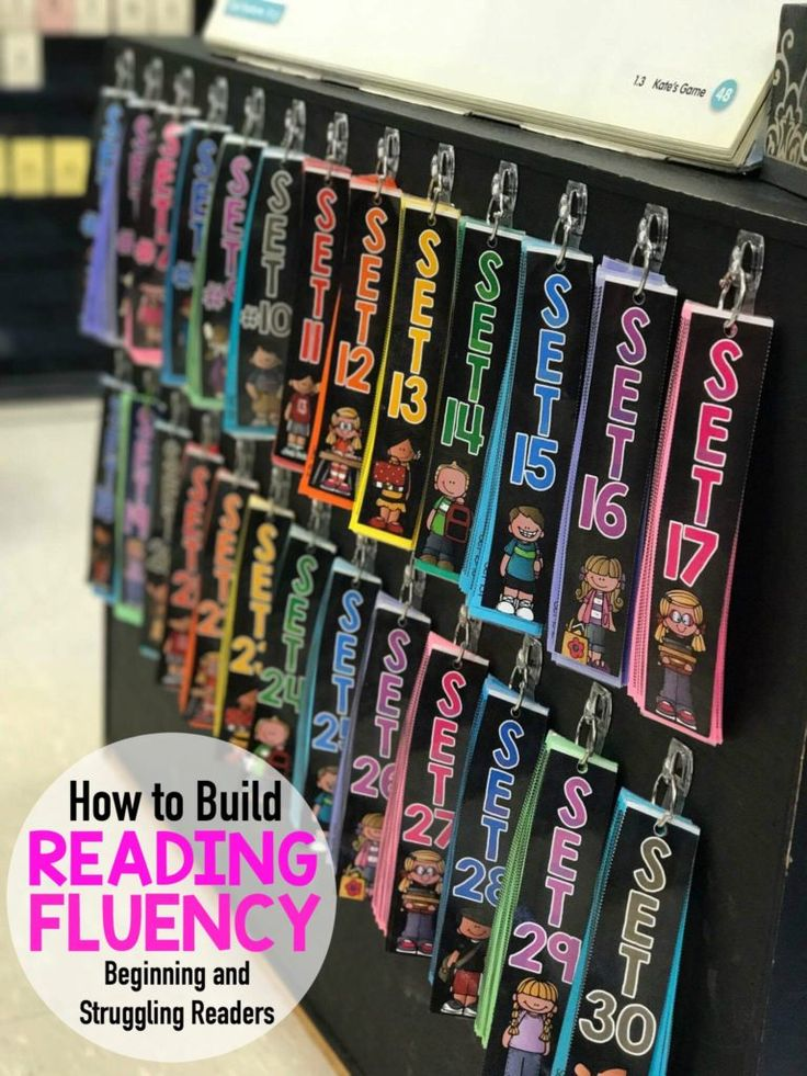 How to Build Reading Fluency for beginning and struggling readers. The Fluency Strips are a systematic approach to phonics skills and sight words, helping build confidence in reading.