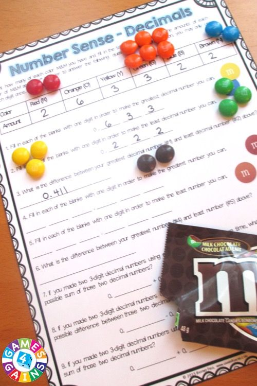 Perfect for Halloween! This M&M's Math Project contains 20 pages of printable math activities to use with some yummy M&M's! Grab some bags of M&M's and get ready for your students to have tons of fun practicing number sense, place value, and operations! Ideal for grades 4-6.
