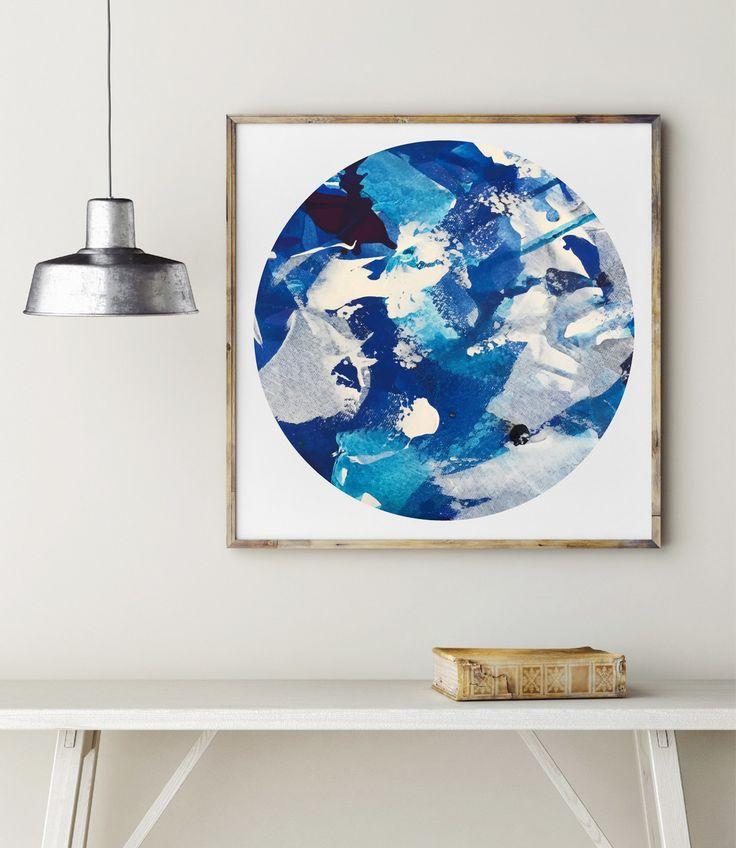 Always Blue Circle Print by Maggi McDonald